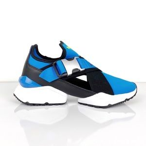 PUMA Muse Cut-Out Blue Sneakers